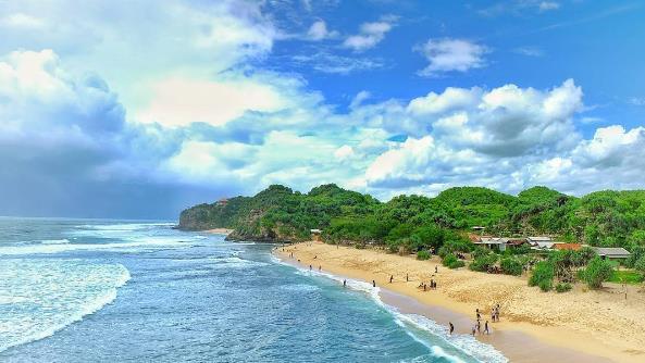 Pantai Watu Kodok Gunung Kidul Alami Hingga Kini